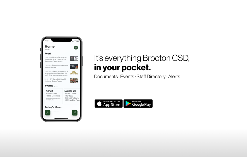 Brocton Central School District mobile app